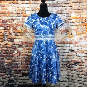 MaxMara Weekend Blue Flower Print Dress